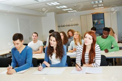 training-in-a-school-classroom-Stock-Photo