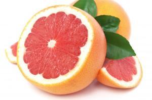 image grapefruit white background