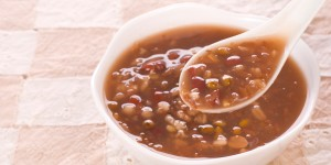 Red bean mixed congee